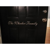 Front Door Personalized family name vinyl decal
