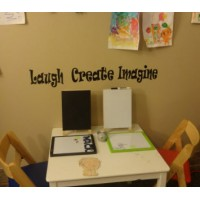 Laugh, Create, Imagine vinyl decal wall decals