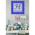 Personalized Name Wall Decal VINYL (HUDSON SAMPLE) [0000000013]