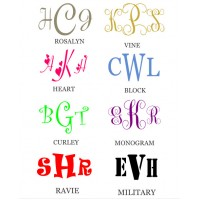 Car Monogram 7x4 inches vinyl decal