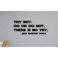 Try not, Do or Do not,  Yoda quote Star Wars quote vinyl decal
