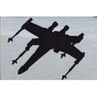 Star Wars X-Wing Fighter Silhouettes 11x8 inches (one right and one left facing)