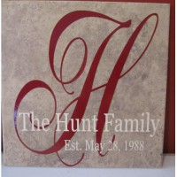 Family name tile Jacoba font- Hall Sample