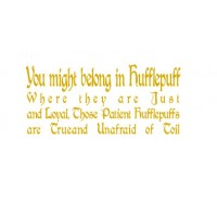 Hufflepuff  vinyl decal