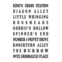 Hogwarts locations vinyl decal