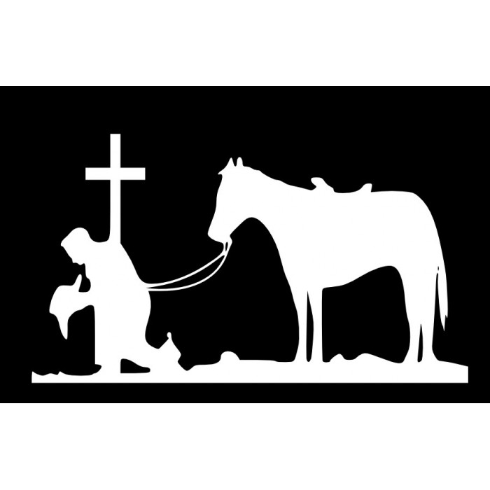 kneeling cowboy x inches religious wall quotes wall sayings