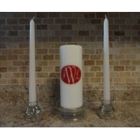 Unity Candle Wedding vinyl decal ROSELYN FONT (DECAL ONLY NO CANDLE INCLUDED)