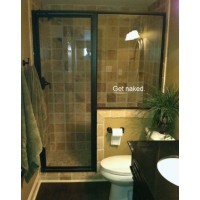 Get Naked  Bath ROOM....WALL WORDS QUOTES SAYINGS ART LETTERING, WHITE