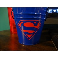 Superman3x2 inches symbol Pack of 6 vinyl decal stickers
