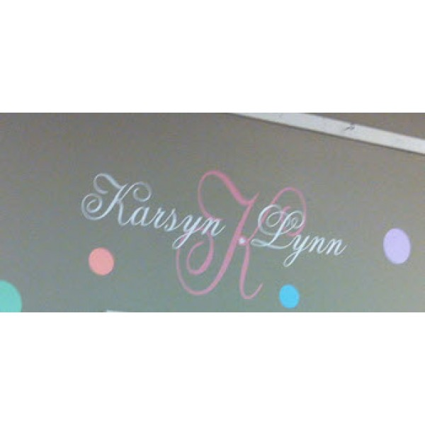 Monogram with name (Karsyn Lynn) vinyl decal