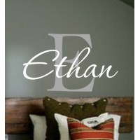 Monogram with name (sample Ethan) 12x14 inches