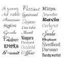 Personalized name 8x2 SIX NAMES  vinyl decal
