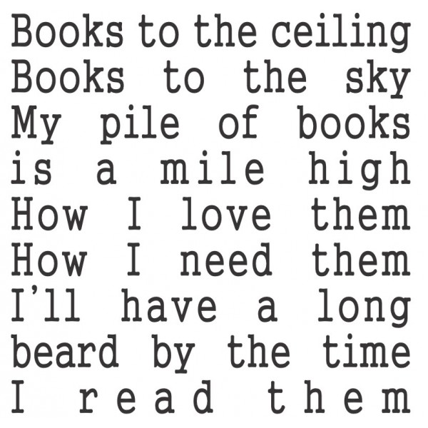 Books to the ceiling vinyl decal