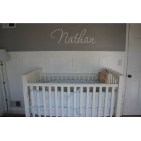 Personalized name 20 inches name (Nathan sample) wall decal vinyl saying