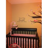 Your first breath took ours away vinyl decal wall stickers