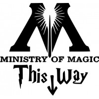 Ministry of Magic 5x4 inches vinyl decal