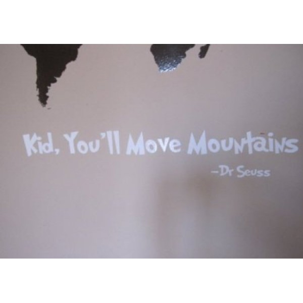 Kid You'll Move Mountain 11x3 inches vinyl decal stickers