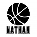 Basketball with kids name vinyl decal [0000000056]