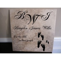 Baby name tile - For this child
