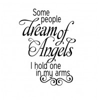Some people dream of angels 19x14 inches Wall Quote Words Lettering Stickers DecaL