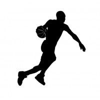 Basketball player 4ft vinyl decal