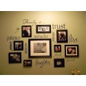 Family Is photo wall words vinyl decal [0000000008]