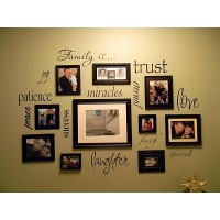 Family Is photo wall words vinyl decal