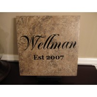 Family name tile WELLMAN SAMPLE