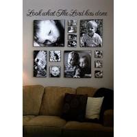 Look what the Lord has done 32x 7 vinyl decal wall saying