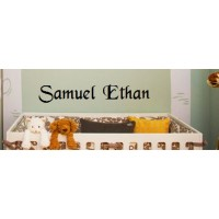 Personalized name 40x10 INCHES (sample Samuel Ethan)  VINYL DECAL