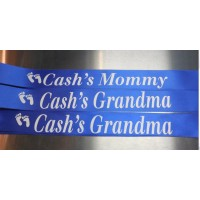 3 Baby Shower Sashes Personalized
