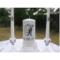Unity Candle Wedding vinyl decal Brock Font (DECAL ONLY NO CANDLE INCLUDED) [0000000040]