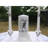 Unity Candle Wedding vinyl decal Brock Font (DECAL ONLY NO CANDLE INCLUDED)