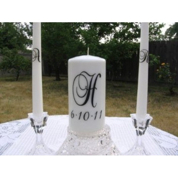 Unity Candle Wedding vinyl decal Brock Font (DECAL ONLY NO CANDLE INCLUDED) [0000000040]   data_51I23P5MF-L._SX355_.jpg