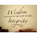 WISDOM IS KNOWING THE RIGHT PATH TO TAKE...INTEGRITY IS TAKING IT Vinyl Wall D...BECAUSE EVERY PICTURE HAS A STORY TO TELL Vinyl wall quotes family lettering ... [0104IVWVPYEa]