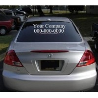Vehicle Company name and phone number vinyl decals