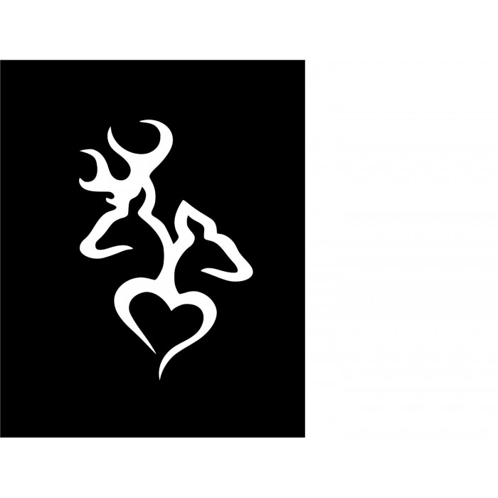 Deer Head Heart Logo Style 2decal Will Come In White 1019ifqtzjw