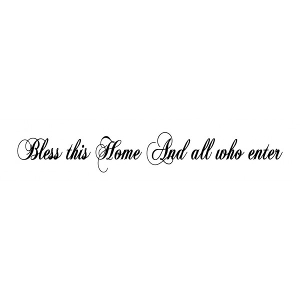 Bless this home 36x5.5 Vinyl wall lettering quotes and sayings hom...