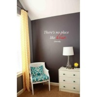 There's no place like home Wizard of Oz quote 26x12 wall saying quote vinyl d...