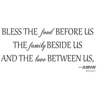 Bless the food before us Vinyl wall lettering quotes and sayings hom...