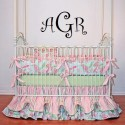 Curly font monogram 22x16 inches [MollieWalker]