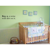 BOY, N. A NOISE WITH DIRT ON IT Vinyl wall quotes kids room sayings home art ...