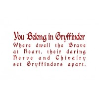 Gryffindor vinyl decal