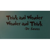 Think and Wonder Dr.Seuss 22x7 inches vinyl decal stickers