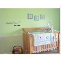 IF YOU CAN DREAM IT, YOU CAN DO IT WALT DISNEY Vinyl wall quotes and sayings ...