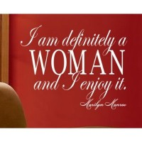 Marilyn Monroe quote I am definitely a woman wall Sayings