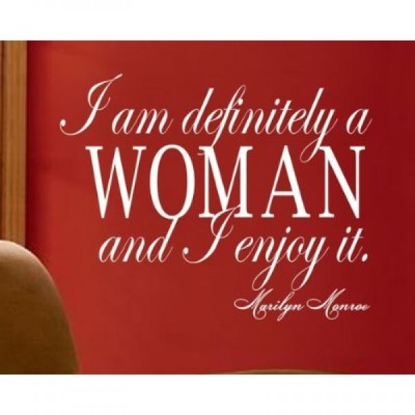 Marilyn Monroe quote I am definitely a woman wall Sayings [0225IL74I4W] | data_FixedImages_I_am_definitely_a_woman.jpg