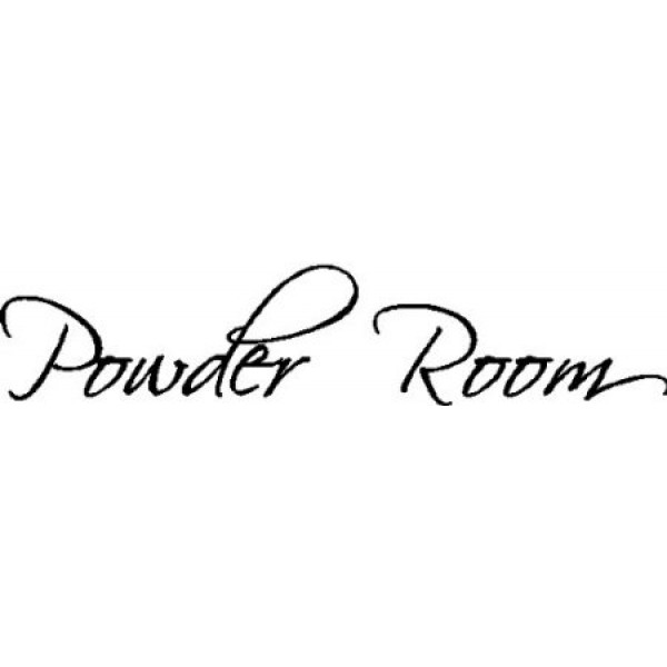 POWDER ROOM....WALL WORDS QUOTES SAYINGS ART LETTERING, BLACK [0306IT0MVR2] | data_HomeDecor_3135K2lGklL._SX450_.jpg