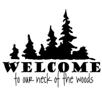 Welcome wall saying decal 22x16