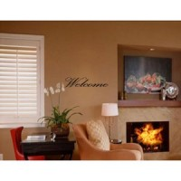 WELCOME Vinyl wall quotes stickers sayings home art decor decal